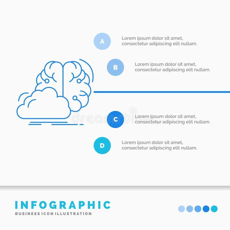 brainstorming, pomys?, innowacja, inspiracji Infographics szablon dla strony internetowej i prezentacja, kreatywnie, Kreskowa B?? ilustracja wektor