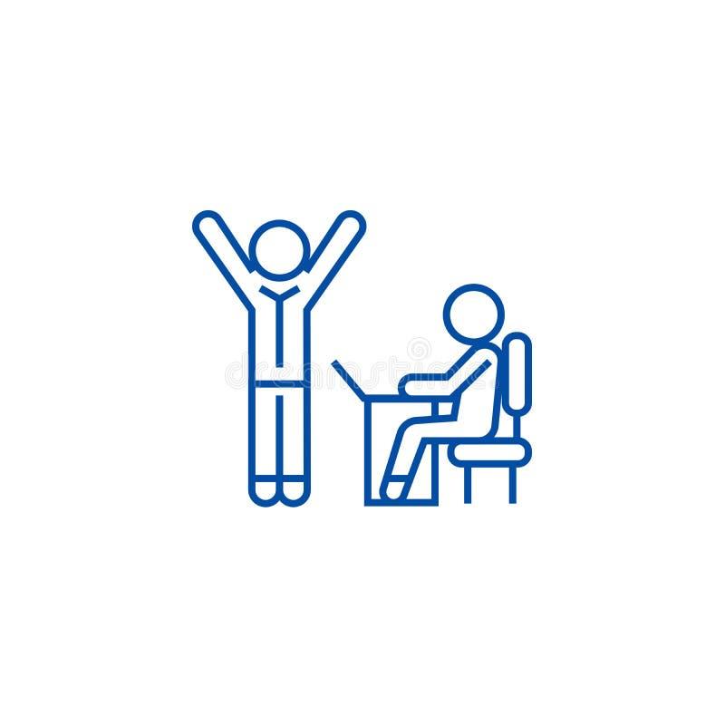 Brainstorming proces w pracy drużynie wykłada ikony pojęcie Brainstorming proces w pracy drużyny płaskim wektorowym symbolu, znak royalty ilustracja