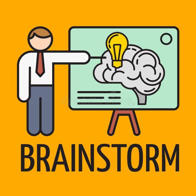brainstorming r?wnie? zwr?ci? corel ilustracji wektora ilustracja wektor
