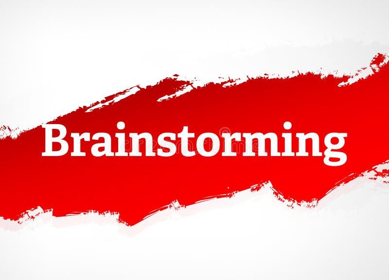 Brainstorming rewolucjonistki muśnięcia tła Abstrakcjonistyczna ilustracja ilustracja wektor