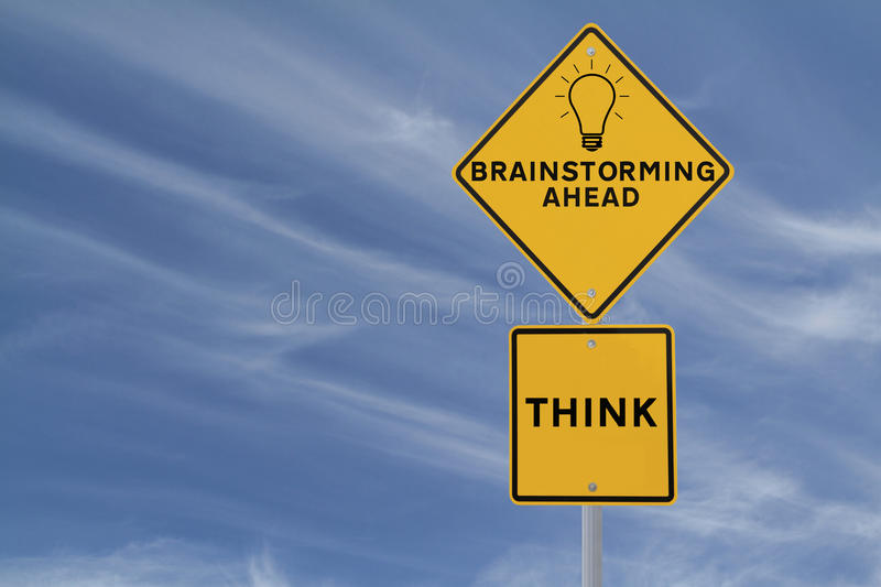 Download Brainstorming Road Sign stock photo. Image of think, ideas - 25748286