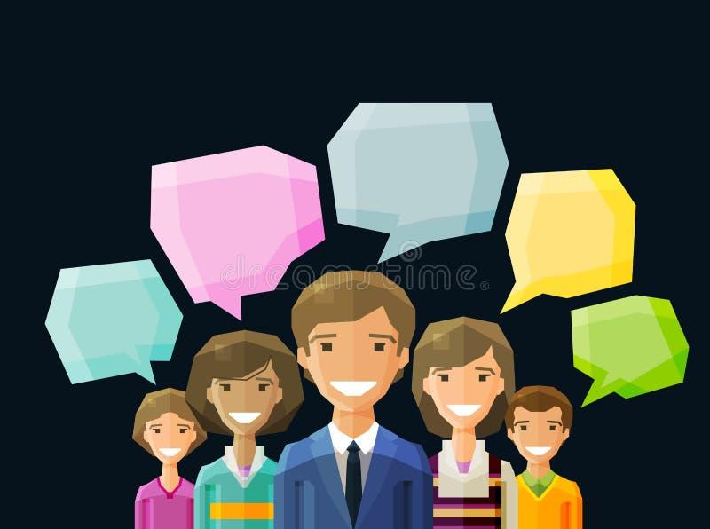 Brainstorming, rozmowa, rozmowa, gadka wektor ilustracji