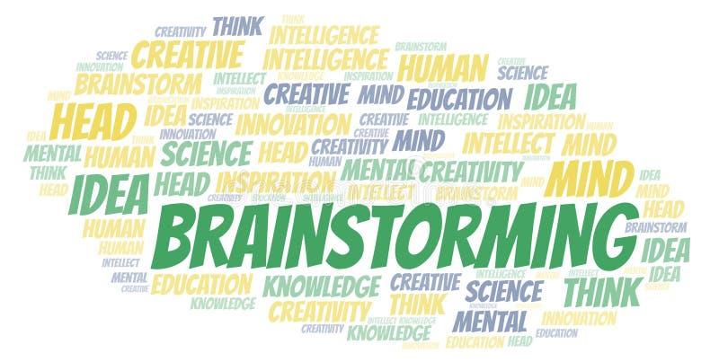 Brainstorming słowo chmurę royalty ilustracja