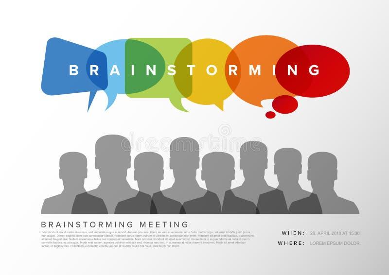 Brainstorming spotkania szablon royalty ilustracja