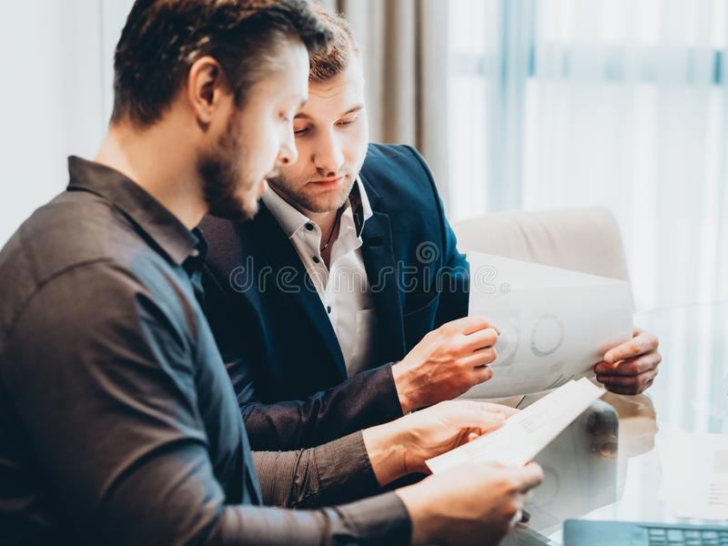 Brainstorming strategy planning business partners royalty free stock image