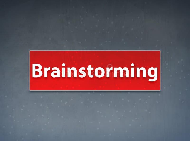 Brainstorming sztandaru abstrakta Czerwony tło ilustracja wektor
