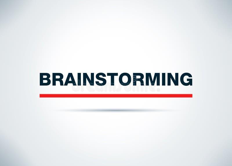 Brainstorming tła projekta Abstrakcjonistyczna Płaska ilustracja ilustracji