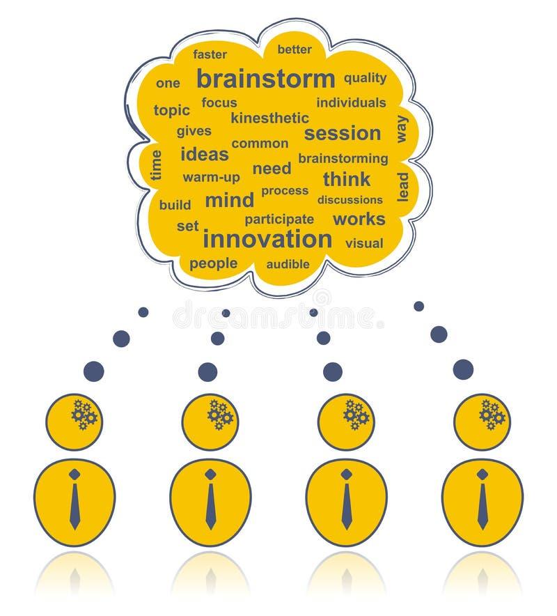 Download Brainstorming team stock vector. Image of mind, outline - 18858404