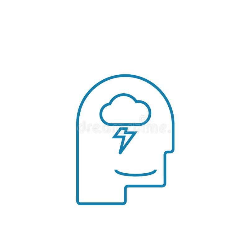 Brainstorming techniki ikony liniowy pojęcie Brainstorming techniki linii wektoru znak, symbol, ilustracja royalty ilustracja