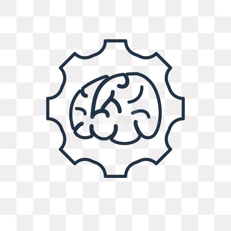 Brainstorming wektorowa ikona odizolowywająca na przejrzystym tle, li ilustracja wektor