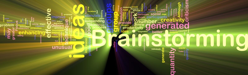 Download Brainstorming Word Cloud Glowing Stock Illustration - Image: 9958346