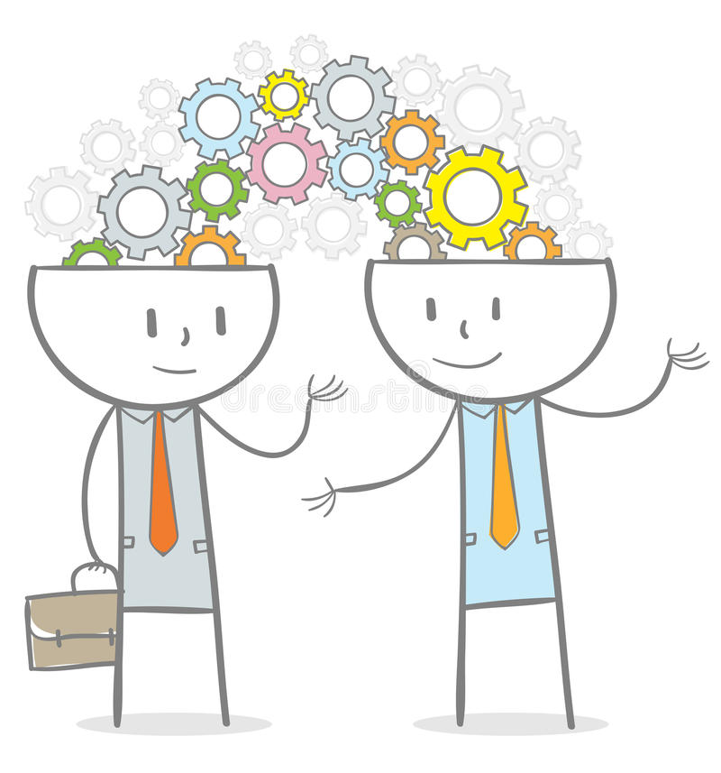 Brainstormingsconcept royalty-vrije illustratie