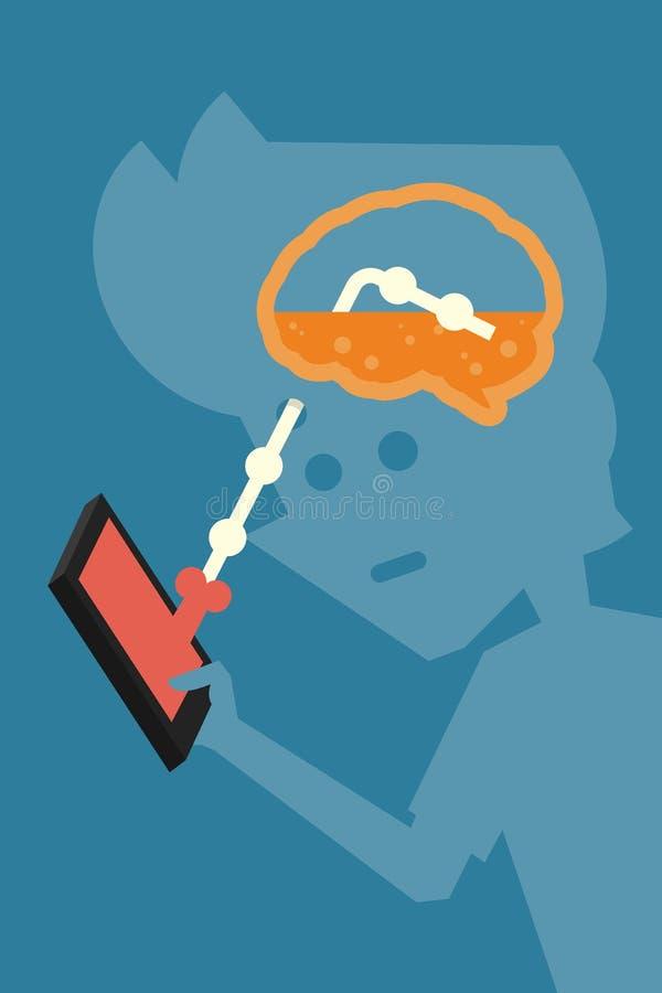 brainwash illustration stock
