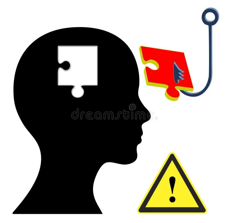 brainwashing ilustração stock