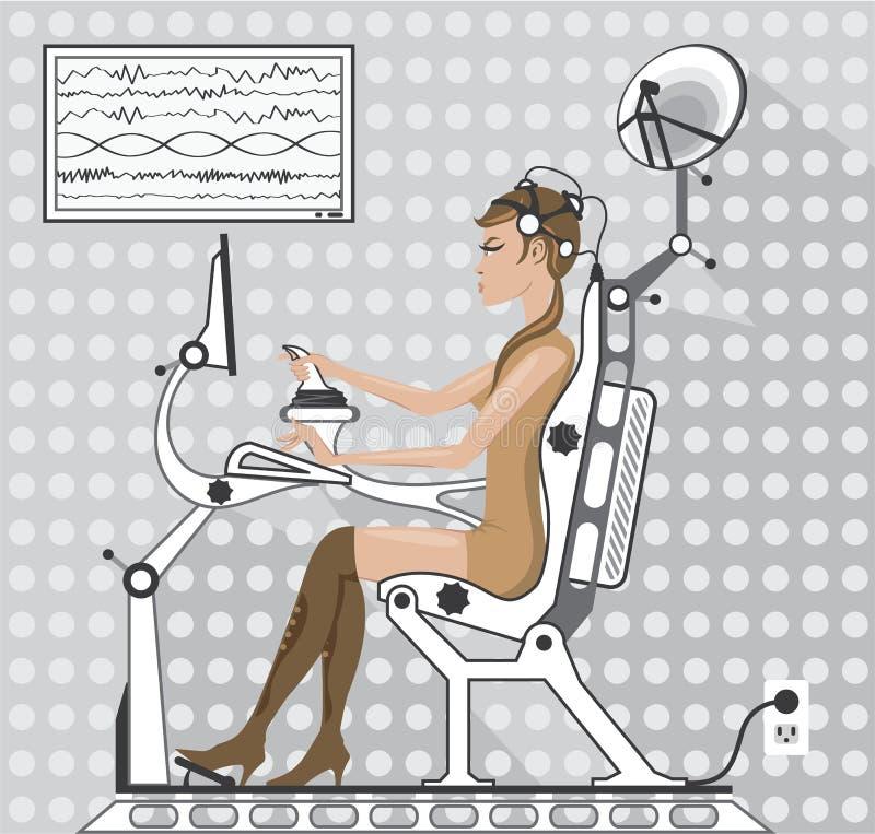 Brainwave słuchawki ilustracji