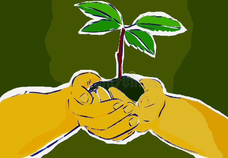 Download Braird stock illustration. Image of palm, life, soil, earth - 6757631