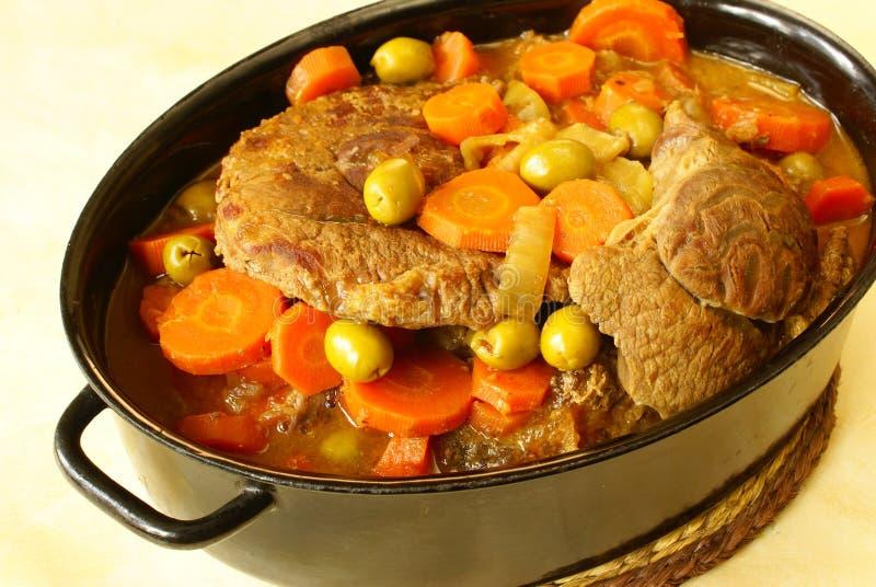 Braised beef shin royalty free stock photos