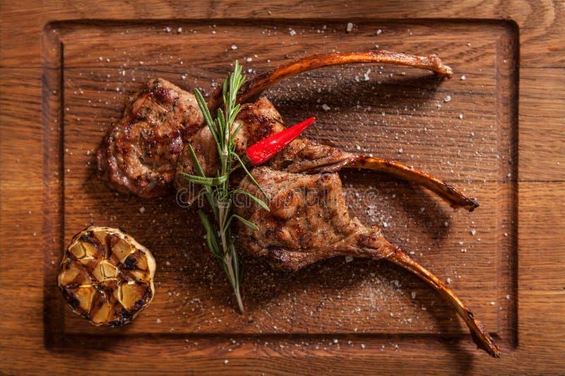 Braised Lamb Chops. royalty free stock image