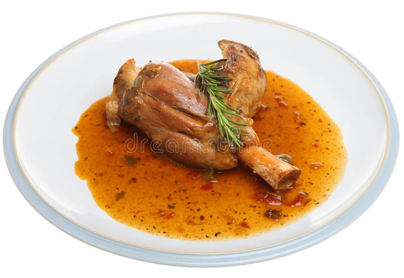Braised Lamb Shank in Wine Sauce Isolated royalty free stock photos