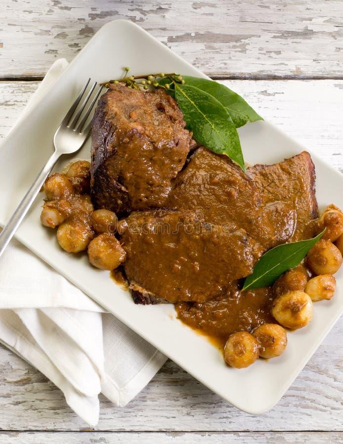 Braised meat royaltyfria foton