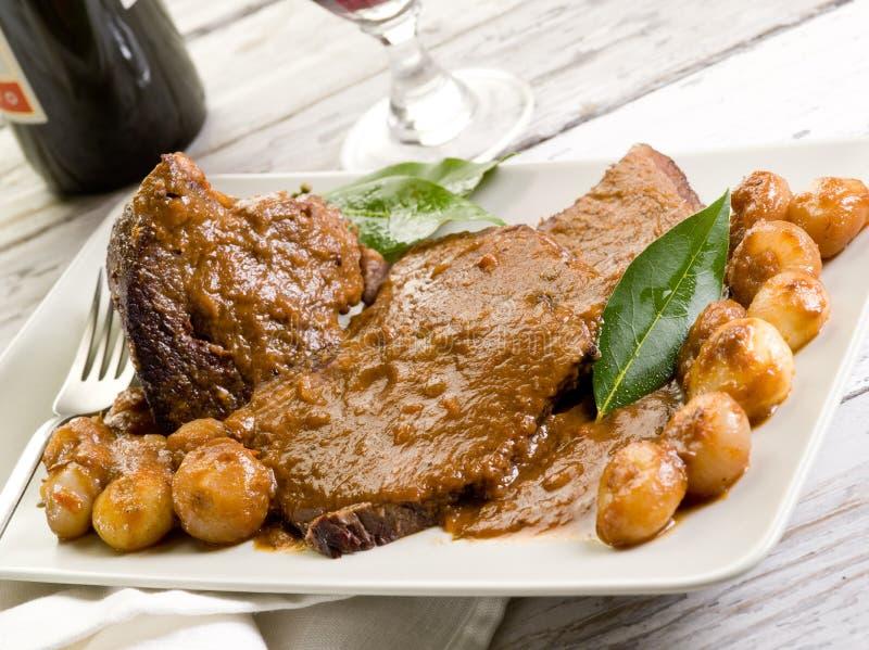 Braised meat royaltyfri foto