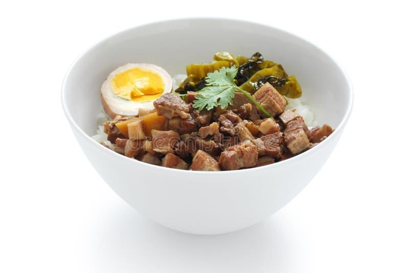 Braised pork rice , taiwanese cuisine royalty free stock photography