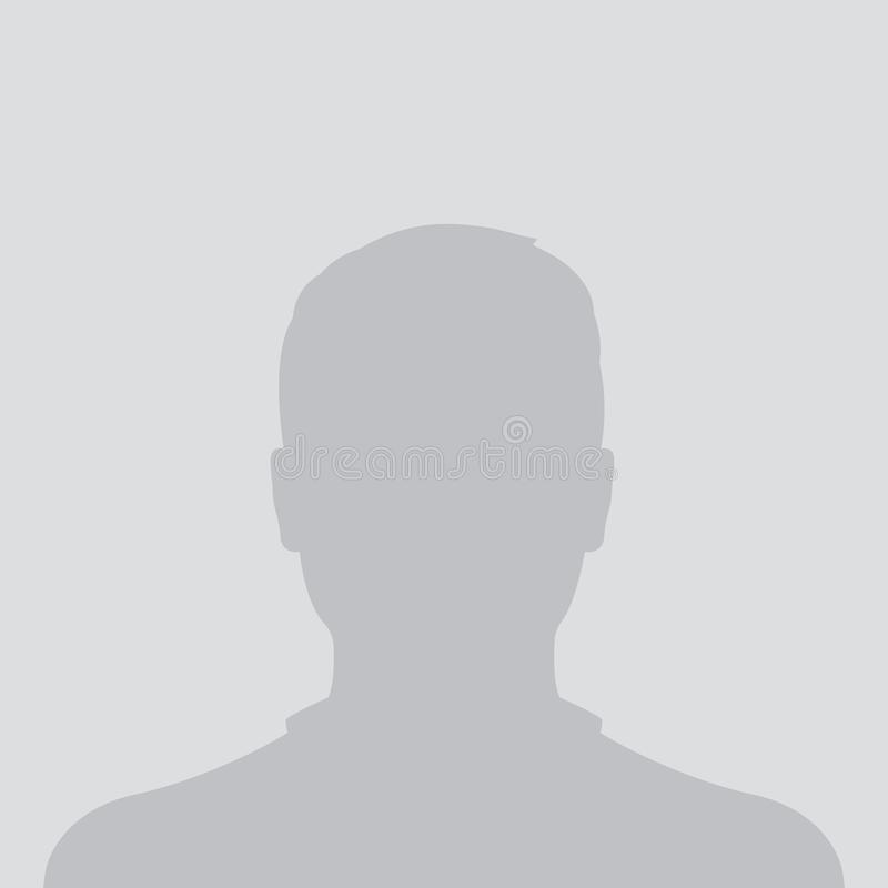 Braka avatar, fotografii placeholder, profilowa ikona ilustracja wektor