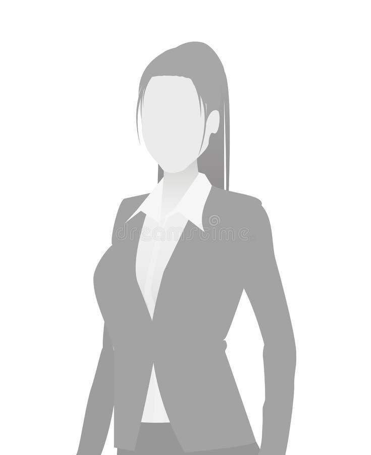 Braka placeholder bizneswomanu długości pora ilustracja wektor