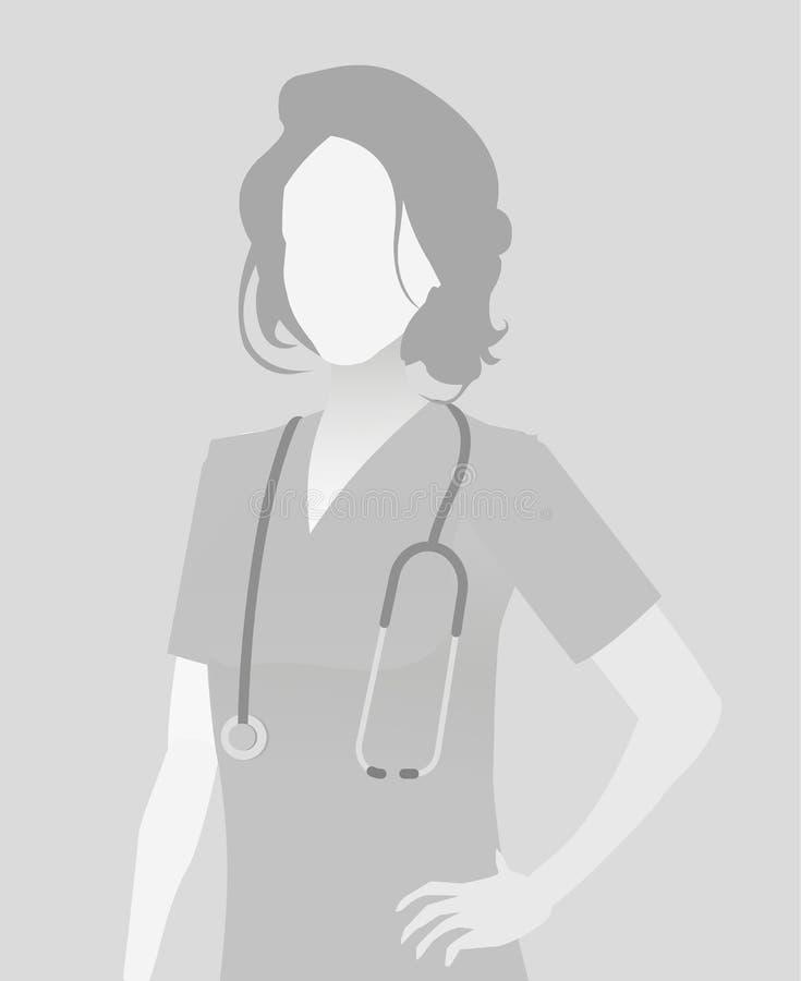 Braka placeholder lekarki długości portret ilustracja wektor
