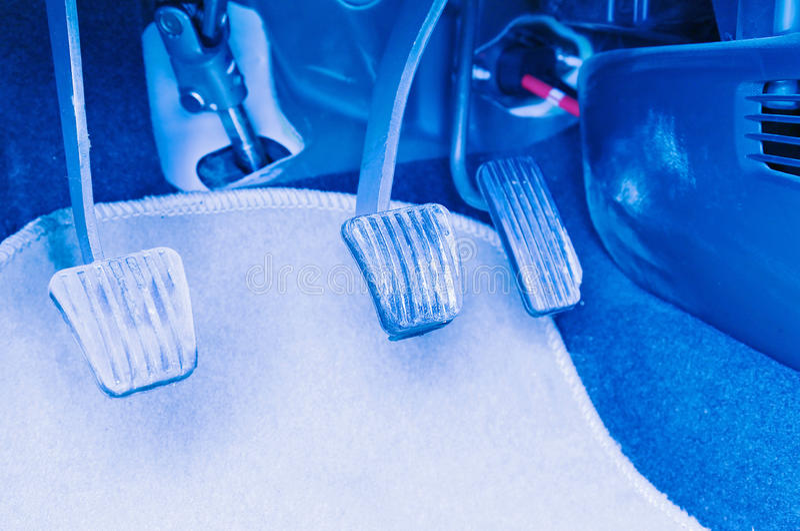 Brake accelerator clutch royalty free stock image