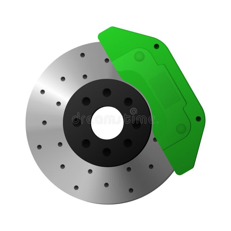 Brake disc, caliper. Details of the car. Vector illustration stock illustration