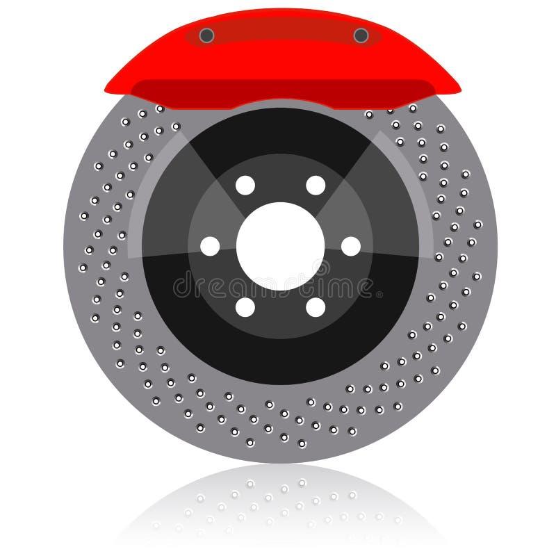 Brake disc vector illustration