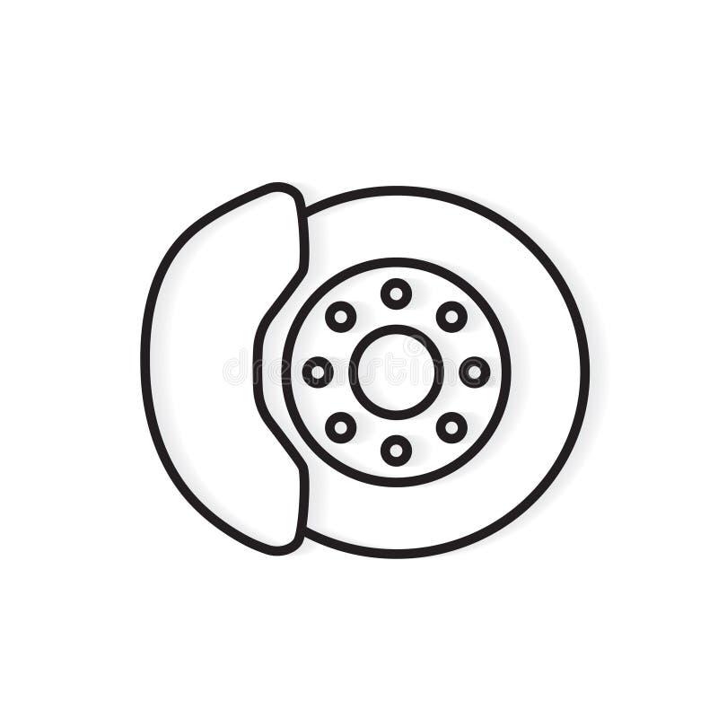 Brake disc icon stock illustration