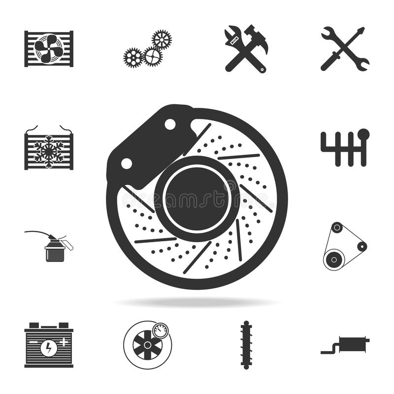 brake disc icon. Detailed set of car repear icons. Premium quality graphic design icon. One of the collection icons for websites, vector illustration