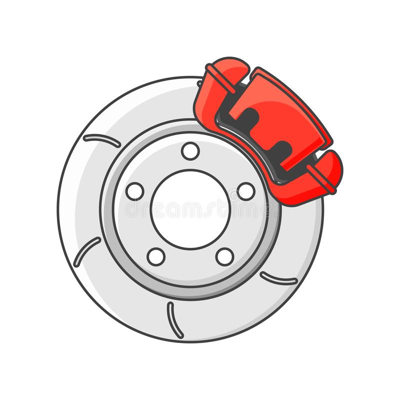 Brake disc icon. Isolated vector illustration on white background. Brake disc icon. Isolated vector illustration on white background stock illustration