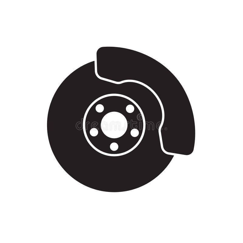 Brake disc icon. Vector illustration royalty free illustration