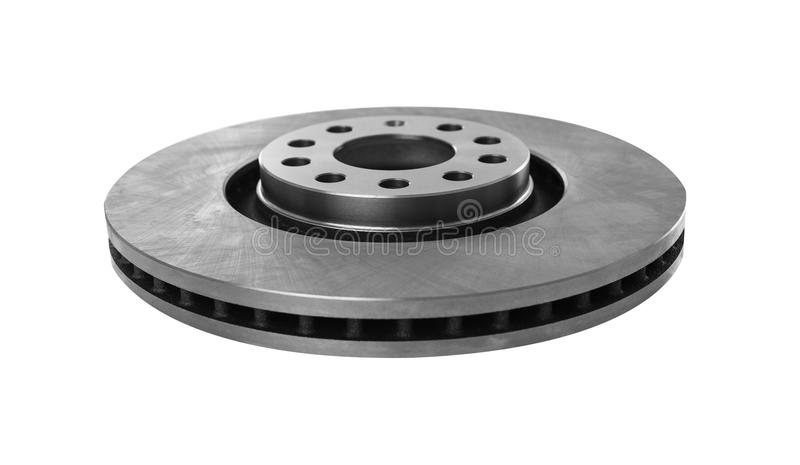 The brake disc isolated on a white background. The brake disc of a car is isolated on a white background stock photo