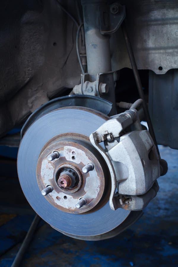 Brake disc and a wheel hub.  royalty free stock photo