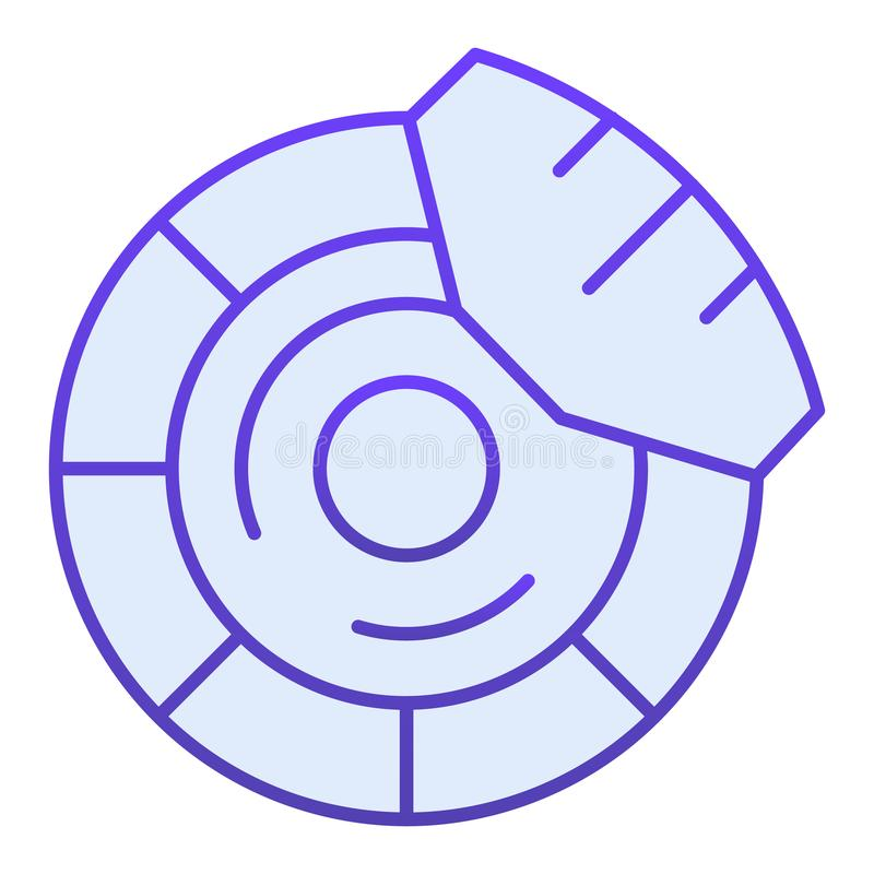 Brake discs flat icon. Brake shoe blue icons in trendy flat style. Car part gradient style design, designed for web and. App. Eps 10 royalty free illustration