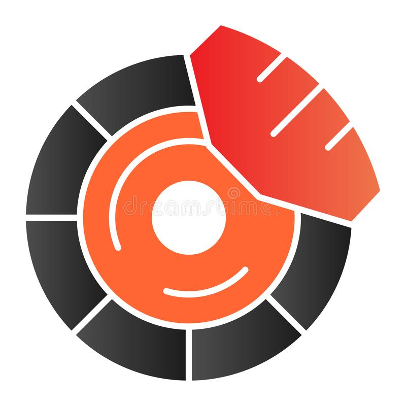 Brake discs flat icon. Brake shoe color icons in trendy flat style. Car part gradient style design, designed for web and. App. Eps 10 vector illustration
