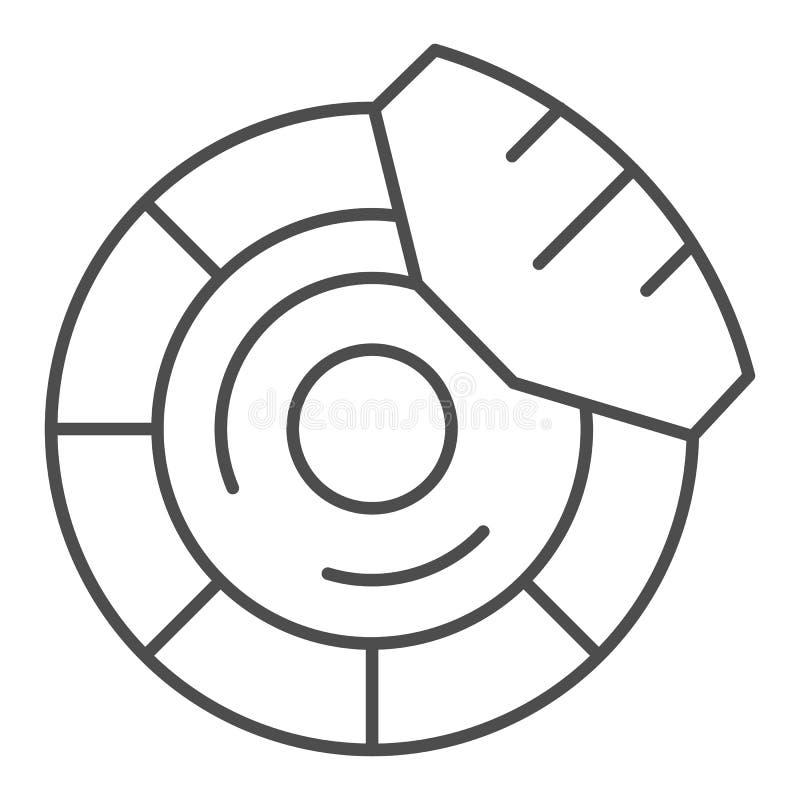 Brake discs thin line icon. Brake shoe vector illustration isolated on white. Car part outline style design, designed. For web and app. Eps 10 vector illustration