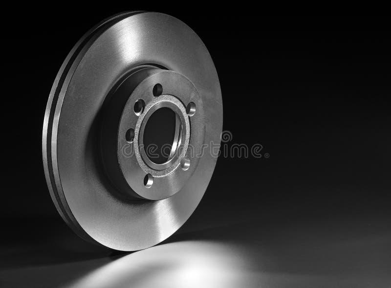 Brake disk. On a black background stock photo