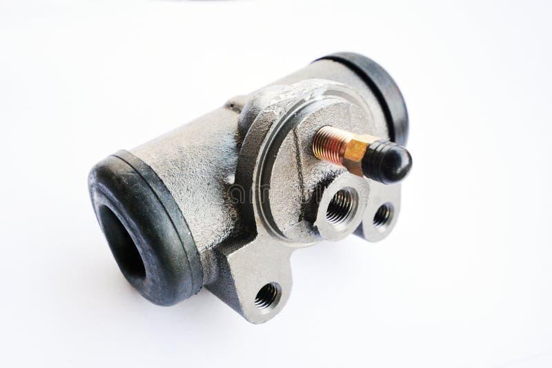 Brake hydraulic cylinder brake drum, stock photo