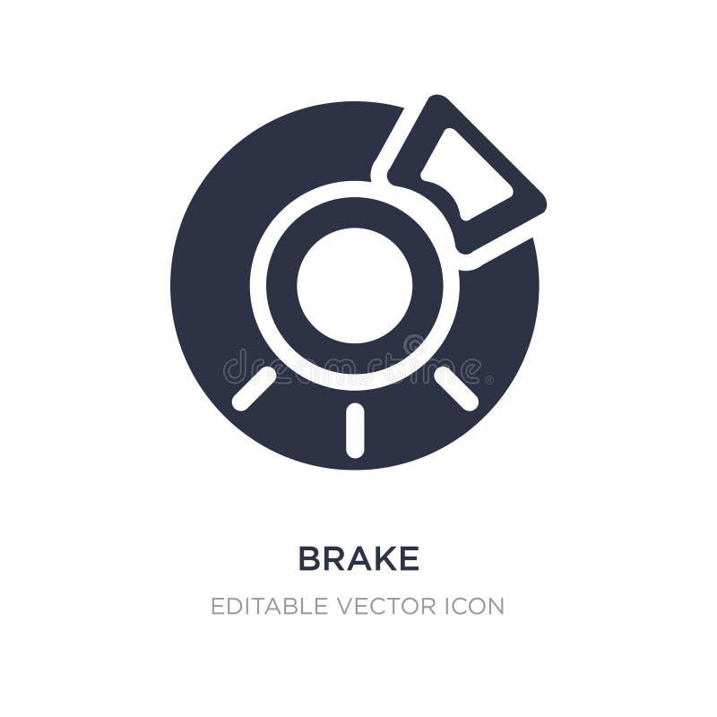 brake icon on white background. Simple element illustration from Transportation concept stock illustration