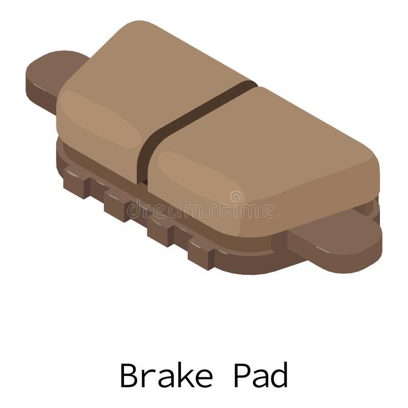 Brake pad icon, isometric 3d style. Brake pad icon. Isometric illustration of brake pad vector icon for web royalty free illustration