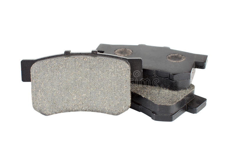 Brake pads isolated on white background royalty free stock photos