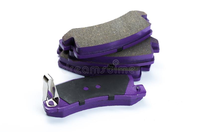 Brake pads on white stock photo