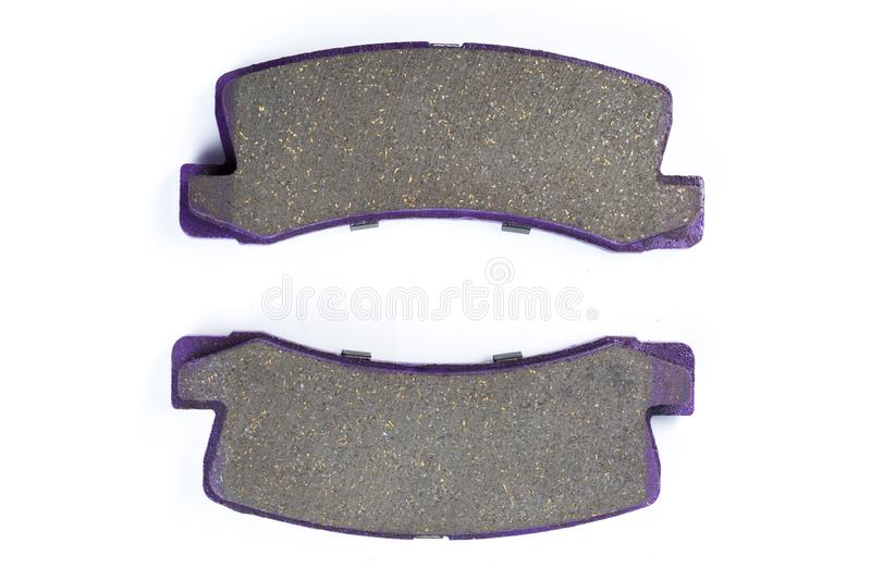 Brake pads isolated on white royalty free stock images