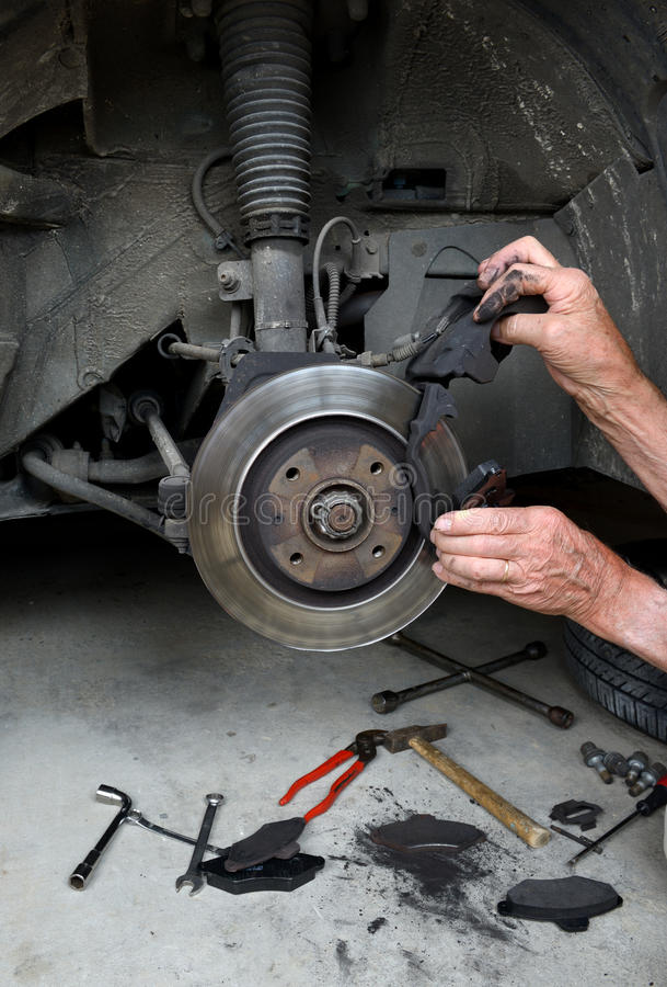 Download Brake pads two stock image. Image of tools, shop, replacement - 35506125