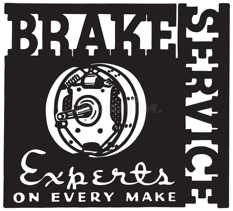 Brake Service vector illustration